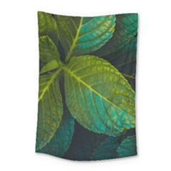 Green Plant Leaf Foliage Nature Small Tapestry