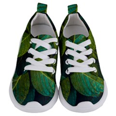 Green Plant Leaf Foliage Nature Kids  Lightweight Sports Shoes