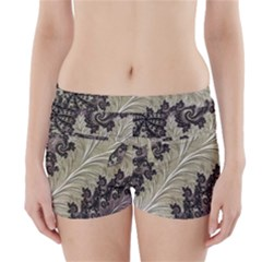 Pattern Decoration Retro Boyleg Bikini Wrap Bottoms