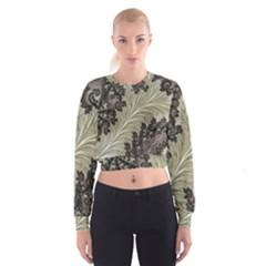 Pattern Decoration Retro Cropped Sweatshirt