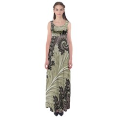 Pattern Decoration Retro Empire Waist Maxi Dress