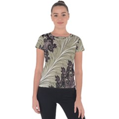 Pattern Decoration Retro Short Sleeve Sports Top