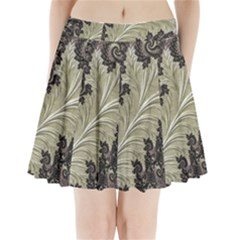 Pattern Decoration Retro Pleated Mini Skirt