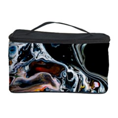 Abstract Flow River Black Cosmetic Storage Case
