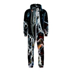 Abstract Flow River Black Hooded Jumpsuit (kids)