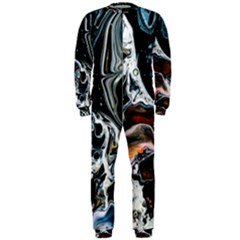 Abstract Flow River Black Onepiece Jumpsuit (men)
