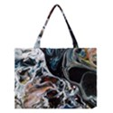 Abstract Flow River Black Medium Tote Bag View1