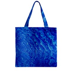 Background Art Abstract Watercolor Zipper Grocery Tote Bag