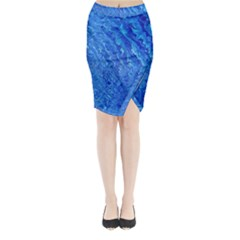 Background Art Abstract Watercolor Midi Wrap Pencil Skirt