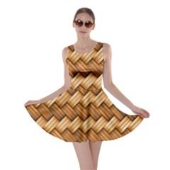 Basket Fibers Basket Texture Braid Skater Dress