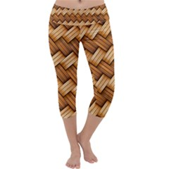 Basket Fibers Basket Texture Braid Capri Yoga Leggings