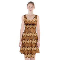 Basket Fibers Basket Texture Braid Racerback Midi Dress