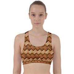 Basket Fibers Basket Texture Braid Back Weave Sports Bra