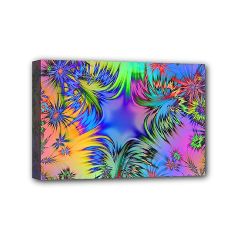 Star Abstract Colorful Fireworks Mini Canvas 6  X 4