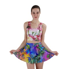 Star Abstract Colorful Fireworks Mini Skirt