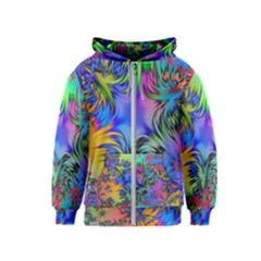 Star Abstract Colorful Fireworks Kids  Zipper Hoodie