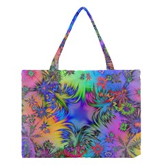 Star Abstract Colorful Fireworks Medium Tote Bag