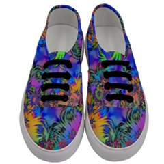 Star Abstract Colorful Fireworks Men s Classic Low Top Sneakers