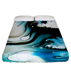 Abstract Painting Background Modern Fitted Sheet (california King Size)