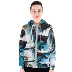 Abstract Painting Background Modern Women s Zipper Hoodie