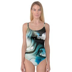 Abstract Painting Background Modern Camisole Leotard