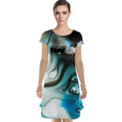 Abstract Painting Background Modern Cap Sleeve Nightdress