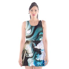 Abstract Painting Background Modern Scoop Neck Skater Dress
