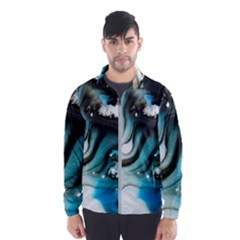Abstract Painting Background Modern Wind Breaker (men)