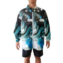 Abstract Painting Background Modern Wind Breaker (kids)