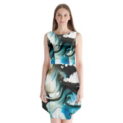 Abstract Painting Background Modern Sleeveless Chiffon Dress