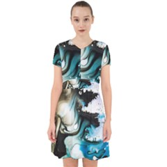 Abstract Painting Background Modern Adorable In Chiffon Dress