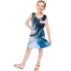 Abstract Painting Background Modern Kids  Tunic Dress