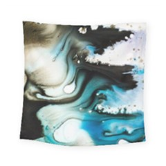 Abstract Painting Background Modern Square Tapestry (small)
