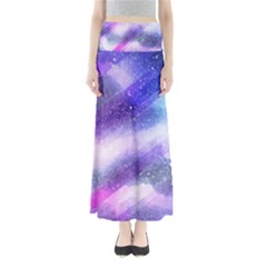 Background Art Abstract Watercolor Full Length Maxi Skirt