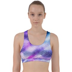 Background Art Abstract Watercolor Back Weave Sports Bra