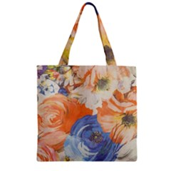 Texture Fabric Textile Detail Zipper Grocery Tote Bag by Nexatart