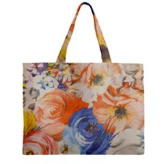 Texture Fabric Textile Detail Zipper Mini Tote Bag