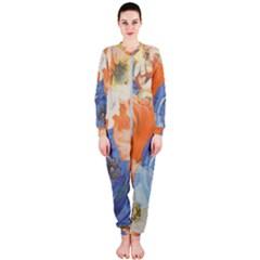Texture Fabric Textile Detail Onepiece Jumpsuit (ladies)