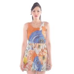 Texture Fabric Textile Detail Scoop Neck Skater Dress