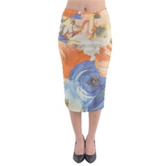Texture Fabric Textile Detail Midi Pencil Skirt