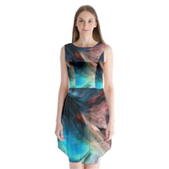 Background Art Abstract Watercolor Sleeveless Chiffon Dress