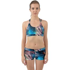Background Art Abstract Watercolor Back Web Sports Bra Set