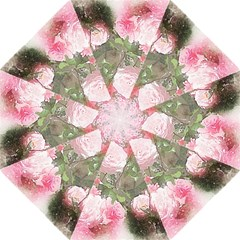 Flowers Roses Art Abstract Nature Folding Umbrellas