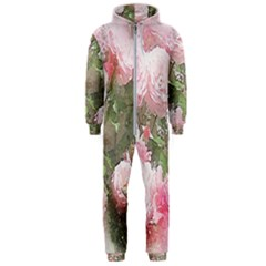 Flowers Roses Art Abstract Nature Hooded Jumpsuit (men)