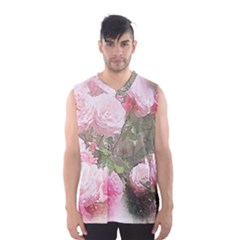 Flowers Roses Art Abstract Nature Men s Basketball Tank Top