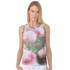 Flowers Roses Art Abstract Nature Women s Basketball Tank Top
