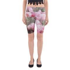 Flowers Roses Art Abstract Nature Yoga Cropped Leggings