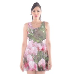 Flowers Roses Art Abstract Nature Scoop Neck Skater Dress
