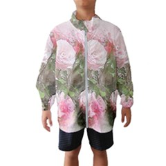 Flowers Roses Art Abstract Nature Wind Breaker (kids)
