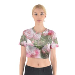 Flowers Roses Art Abstract Nature Cotton Crop Top